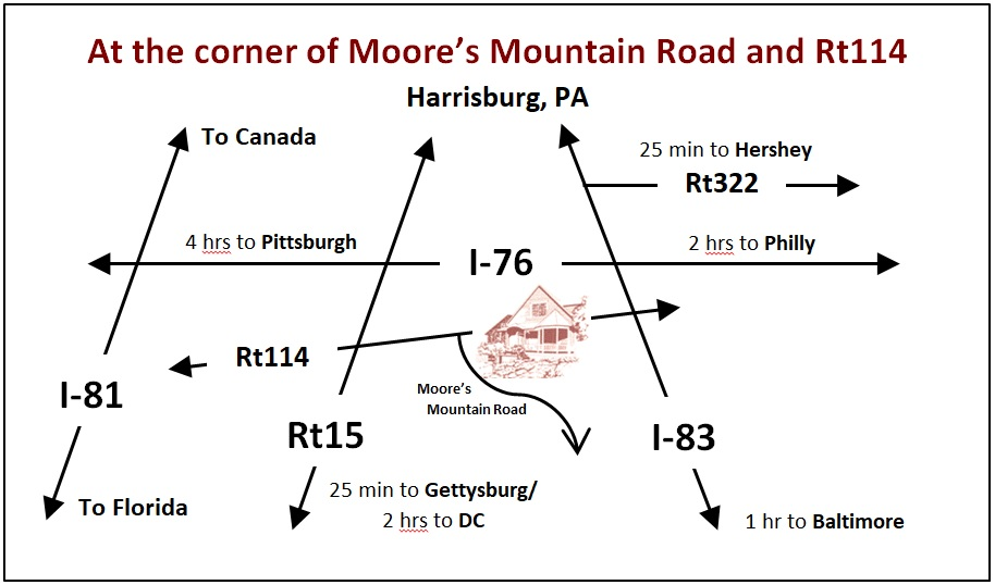 Moore's Mountain Inn map